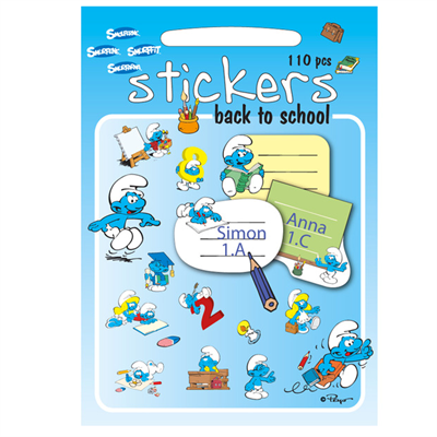 Image of Barbo Toys Smølferne Stickers skole (BT8005)