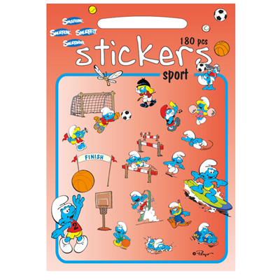 Image of Barbo Toys Smølferne Stickers sport (BT8004)