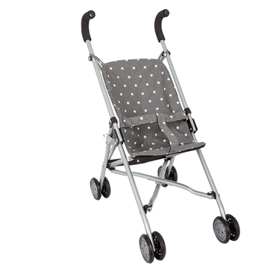 Image of Barrutoys Klapvogn grey with stars (BA401)