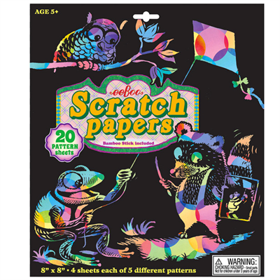 Image of   Eeboo Scratch Papers Pattern