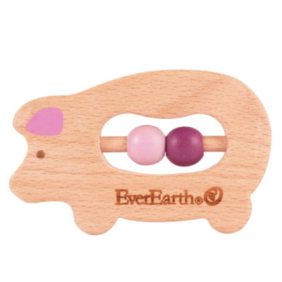 Image of EverEarth Grasping Toy Pig