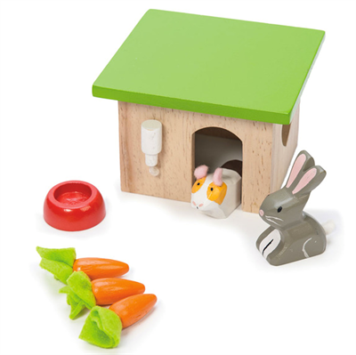 Le Toy Van Dollhouse Pet Set, Bunny, Guinea