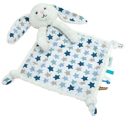 Image of Little Dutch Cuddle cloth rabbit, Mixed stars mint (LDT4301)