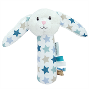 Little Dutch Cuddle rattle rabbit, Mixed stars mint