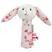 Little Dutch Cuddle rattle rabbit, Pink blossom