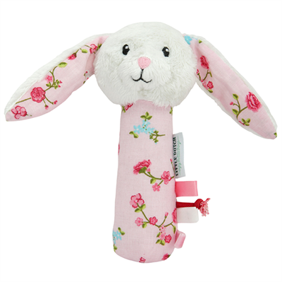 Image of Little Dutch Cuddle rattle rabbit, Pink blossom (LDT4318)