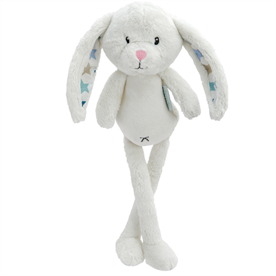 Image of Little Dutch Cuddly toy rabbit, Mixed stars mint (LDT4305)