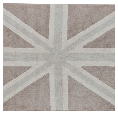 Image of Lorena Canals Flag England Linen,Grey, 140x200 (LC0866)