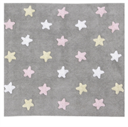 Lorena Canals Tricolor Stars Grey,Pink, 120x160