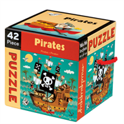 Mudpuppy Cube Puzzle, 42pcs. Pirates