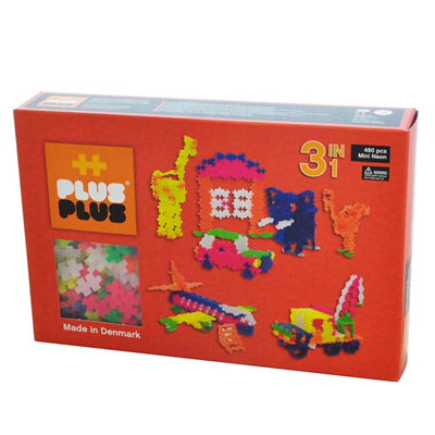 Plus Plus MINI Neon 480 pcs. 3in1