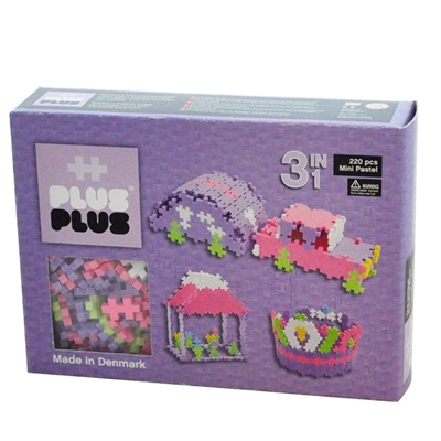 Image of Plus Plus MINI Pastel 220 pcs. 3in1 (2-582)