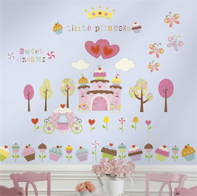 Image of   Rommates Wallstickers Happi Cupcake Land