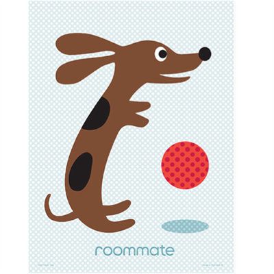 Image of Roommate Plakat Best friend dog (Room40000)