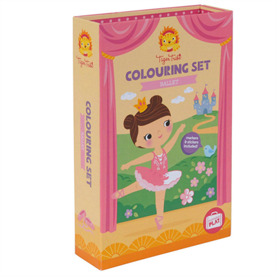 Image of Tigertribe Colouring Set Ballet (TT14-014)
