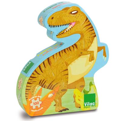 Vilac Puslespil Dinosaurer, 100 brikker